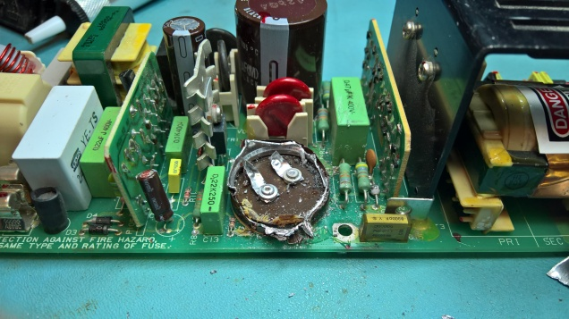 Cutting Off A Smoothing Capacitor on the H7878 Input Rectifier