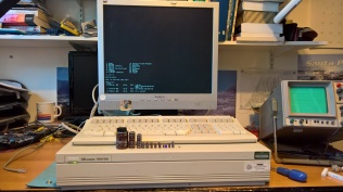 DECstation 5000 Model 240 Console After PSU Repair