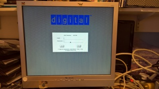 DECstation 5000 Model 240 Ultrix 4.5 Login Screen