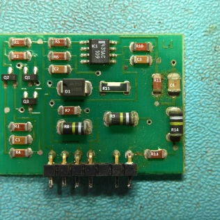Labelled parts on the 50-19530 daughter board for the H7826 Power Supply
