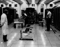 "Decommissioning on MU5 sometime in September 1982. This photo was sent to me by Prof. Greg Egan. He thought Pete Lomas had taken it, but Pete tells me it was not him, so the author of this picture is unknown. The caption on the back reads ""Eric: Thats the last ACC fault we get on here!"""