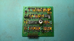 Labelled parts on the 5019574 daughter board for the H7826 Power Supply