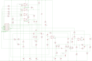 Schematic for the 5019574 daughter board for the H7826 Power Supply